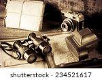 vintage  travel memories... | Shutterstock . vector #234521617