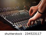 Sound Mixer In Action  Hand