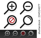 magnifier symbol set