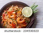 Asian Rice Noodles With Shrimp...