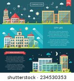 set of flat design buildings... | Shutterstock . vector #234530353