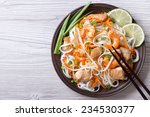 rice noodles with chicken ... | Shutterstock . vector #234530377
