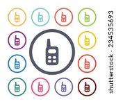 radio flat icons set. open... | Shutterstock . vector #234535693
