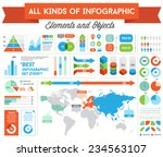 infographics elements and... | Shutterstock .eps vector #234563107