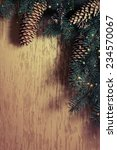 christmas fir tree with...   Shutterstock . vector #234570067