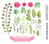 vector floral set. colorful... | Shutterstock .eps vector #234572227