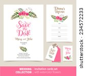 vector set of invitation cards... | Shutterstock .eps vector #234572233