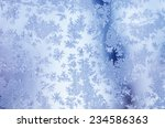 Winter Iced Blue Pattern With...