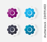 realistic paper sticker ... | Shutterstock .eps vector #234591403