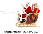 happy santa claus in christmas   Shutterstock . vector #234597667