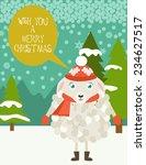 merry christmas | Shutterstock .eps vector #234627517