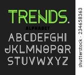 modern font trends  alphabet.... | Shutterstock .eps vector #234658363