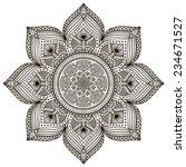 mandala. round ornament pattern.... | Shutterstock .eps vector #234671527