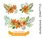 vector flowers set. colorful... | Shutterstock .eps vector #234677713