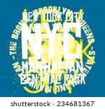 new york city vector art | Shutterstock .eps vector #234681367