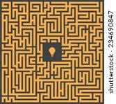 maze labyrinth | Shutterstock .eps vector #234690847