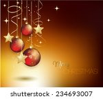 merry christmas card with red... | Shutterstock .eps vector #234693007