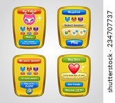 game interface elements. vector ...
