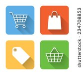 flat shopping icons. vector...