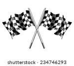 chequered flags motor racing  ... | Shutterstock . vector #234746293