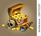 treasure chest with gold | Shutterstock .eps vector #234751237