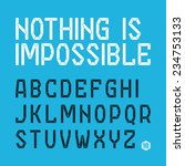 nothing is impossible font ... | Shutterstock .eps vector #234753133