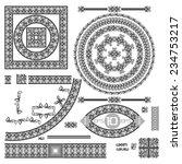 set of decorative elements.... | Shutterstock .eps vector #234753217