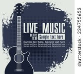 banner with an acoustic guitar... | Shutterstock .eps vector #234755653