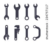 Set Of Icons Of Spanners On...