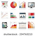 chart and graph icons | Shutterstock .eps vector #234763213