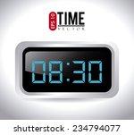 time design over white... | Shutterstock .eps vector #234794077