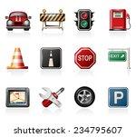 traffic icons | Shutterstock .eps vector #234795607
