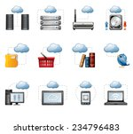 cloud computing icons | Shutterstock .eps vector #234796483