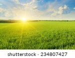 field  sunrise and blue sky | Shutterstock . vector #234807427