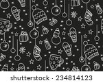 hand drawn new year seamless... | Shutterstock .eps vector #234814123