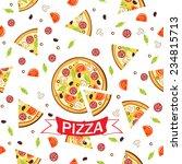 pizza pattern.vector seamless... | Shutterstock .eps vector #234815713