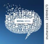 social media bubble speech... | Shutterstock . vector #234848173