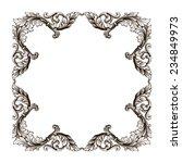 vintage border  frame filigree... | Shutterstock . vector #234849973