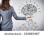 rear view of businesswoman... | Shutterstock . vector #234885487