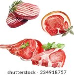 vector meats | Shutterstock .eps vector #234918757