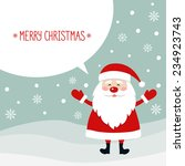 merry christmas background with ... | Shutterstock .eps vector #234923743