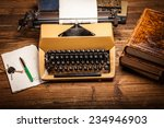 old typewriter  a pile of books ... | Shutterstock . vector #234946903