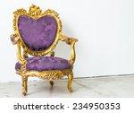 purple vintage sofa