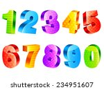 collection of 10 colorful three ... | Shutterstock . vector #234951607