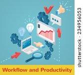 vector workflow and... | Shutterstock .eps vector #234956053