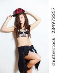 closeup fashion studio portrait ... | Shutterstock . vector #234973357