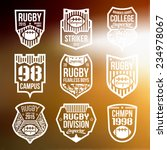 college rugby team emblems in... | Shutterstock .eps vector #234978067