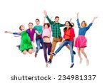 large group of cheerful young... | Shutterstock . vector #234981337