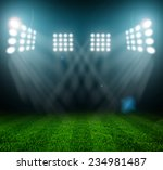 stadium lights at night and... | Shutterstock . vector #234981487