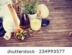 spa still life with candle | Shutterstock . vector #234993577